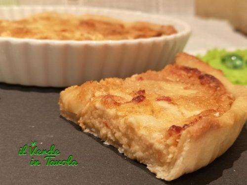Crostata salata con pasta sfoglia vegan ripiena con cavolfiore e pesto rosso la ricetta