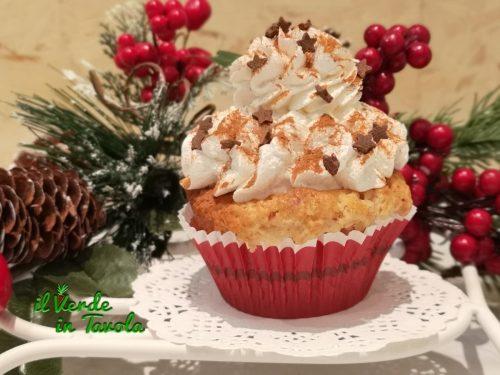 Cupcakes natalizi alle pere profumati con zenzero e cannella la ricetta