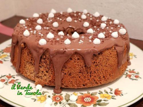 Angel cake soffice alla crema spalmabile fondente la ricetta