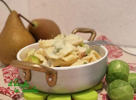 Tagliatelle homemade con pere, gorgonzola e cavoletti di Bruxelles la ricetta