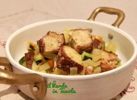 Spezzatino di tofu al marsala con cipolle, patate e zucchine la ricetta