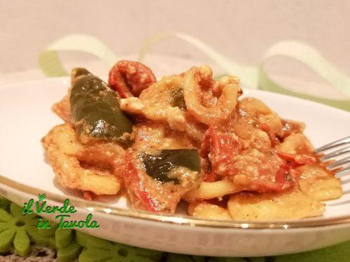 Orecchiette con peperoni e ricotta la ricetta