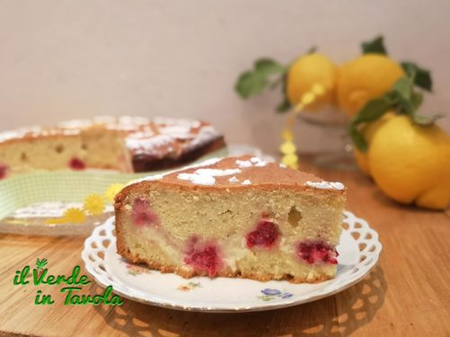 Crostata morbida con crema di limone e lamponi la ricetta