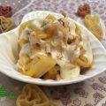 Cuori di pasta alla crema di zucca, gorgonzola e noci