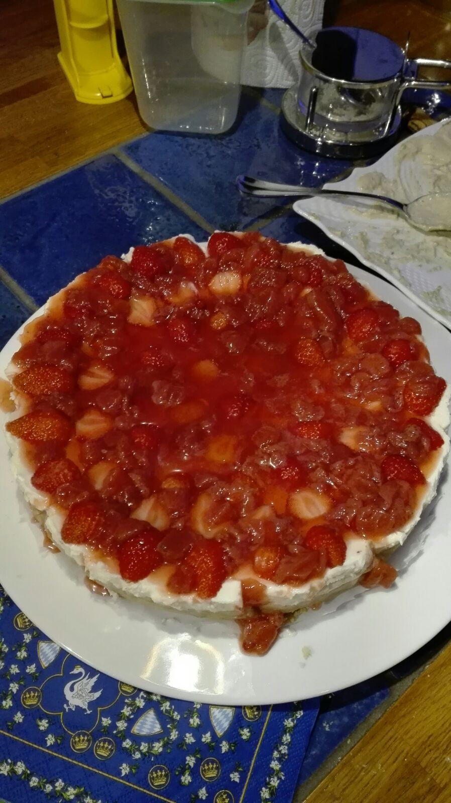 Torta Celestiale ( cheesecake alle fragole)