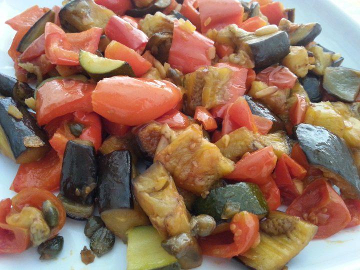 Verdure in agrodolce al forno