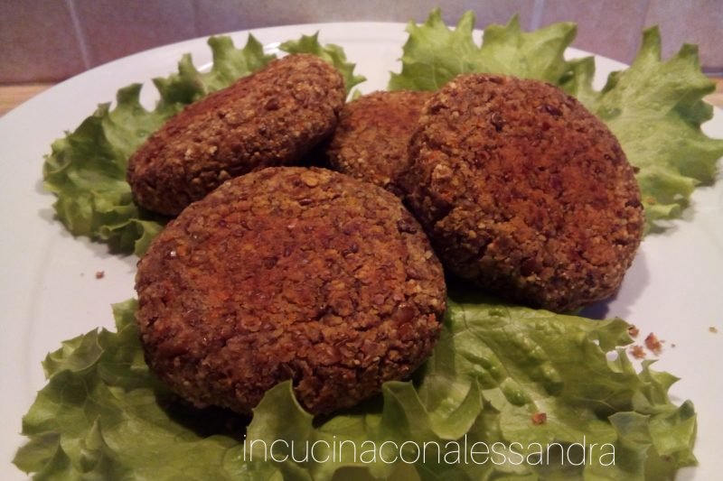 Burger di lenticchie e carote , senza glutine