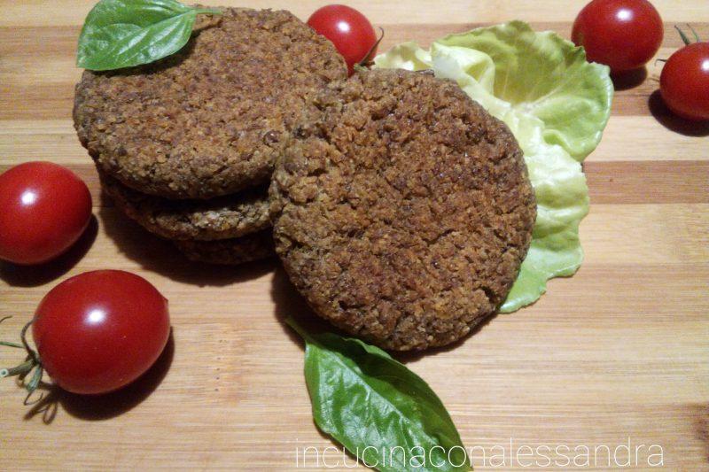 Burger di fagioli e piselli . Senza glutine