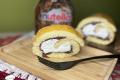 Torta girella panna e Nutella