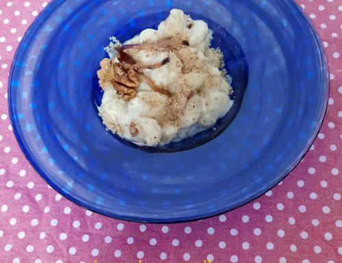 Gnocchi speck e fonduta di gorgonzola con noci