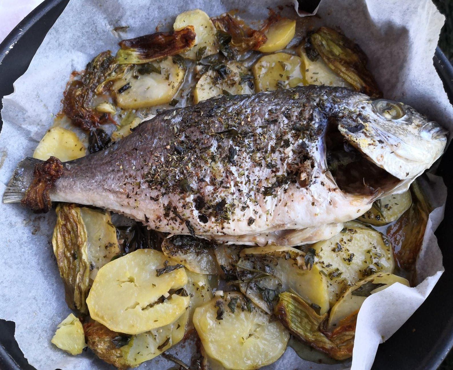 Ricette Orata E Zucca.Orata Con Fiori Di Zucca E Patate In Cucina Con Chiara