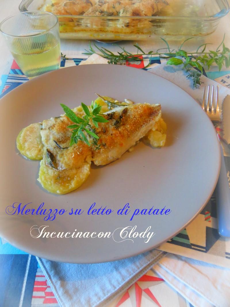 Merluzzo al forno su letto di patate incucinaconclody for Casa del merluzzo