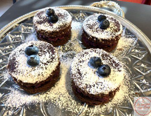 Mirtillosi – Tortini con mousse di mirtilli