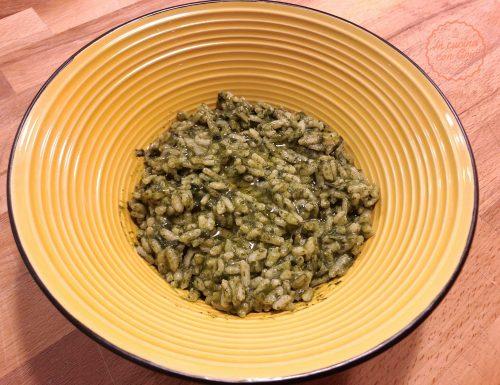 Risotto croste di parmigiano e spinaci con Cuisine Companion