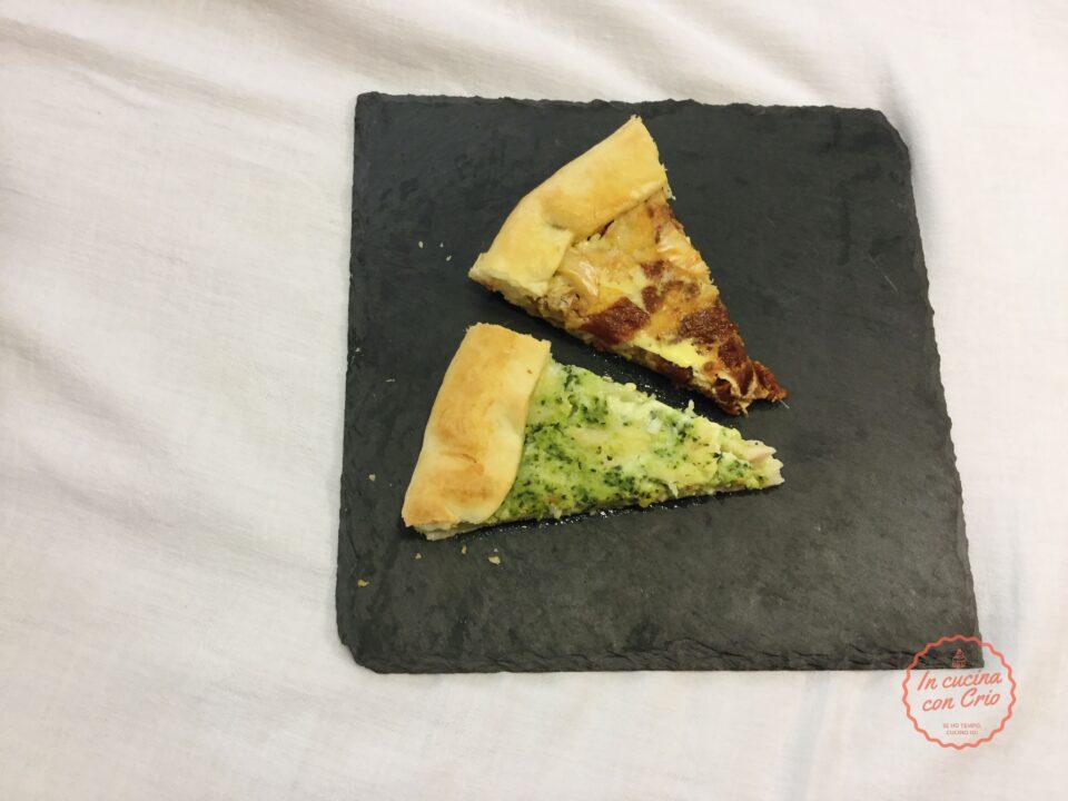 Torta salata merluzzo broccoli e pomodori secchi