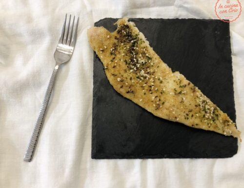 Persico al forno con semi e pangrattato