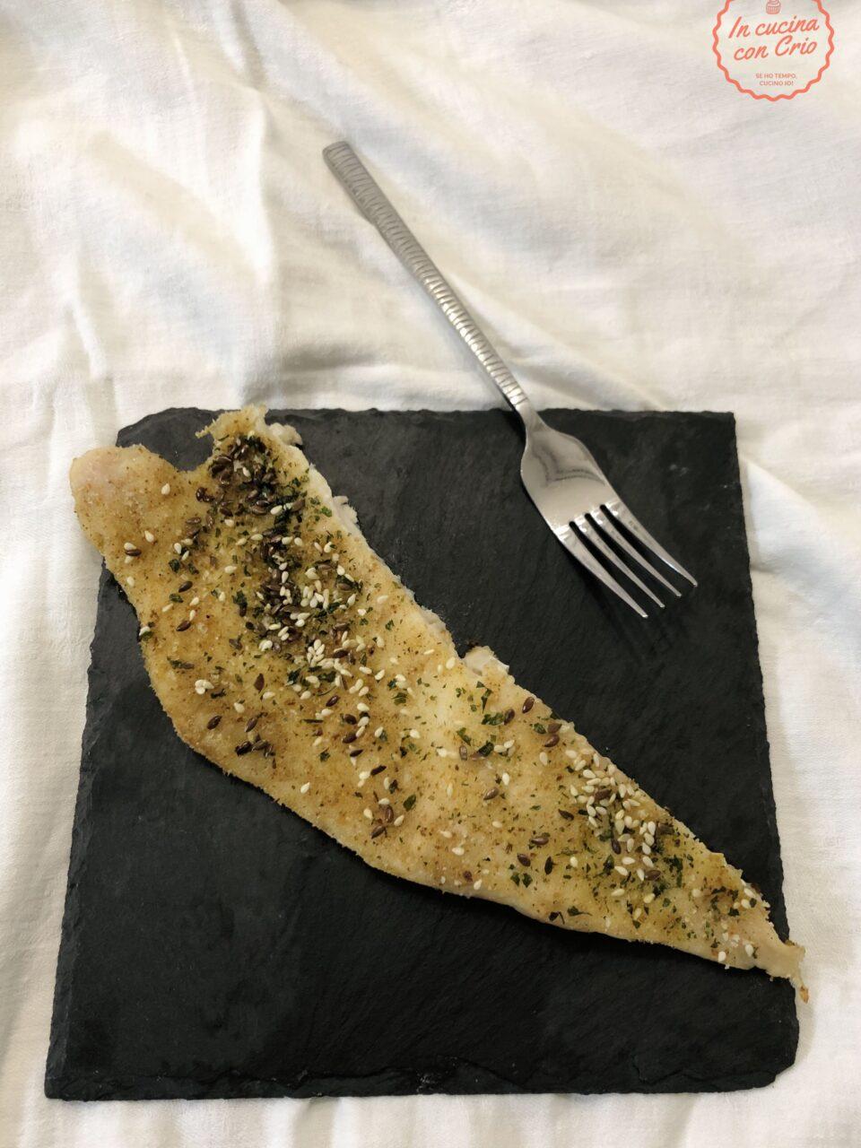 Persico al forno con semi pangrattato ricetta