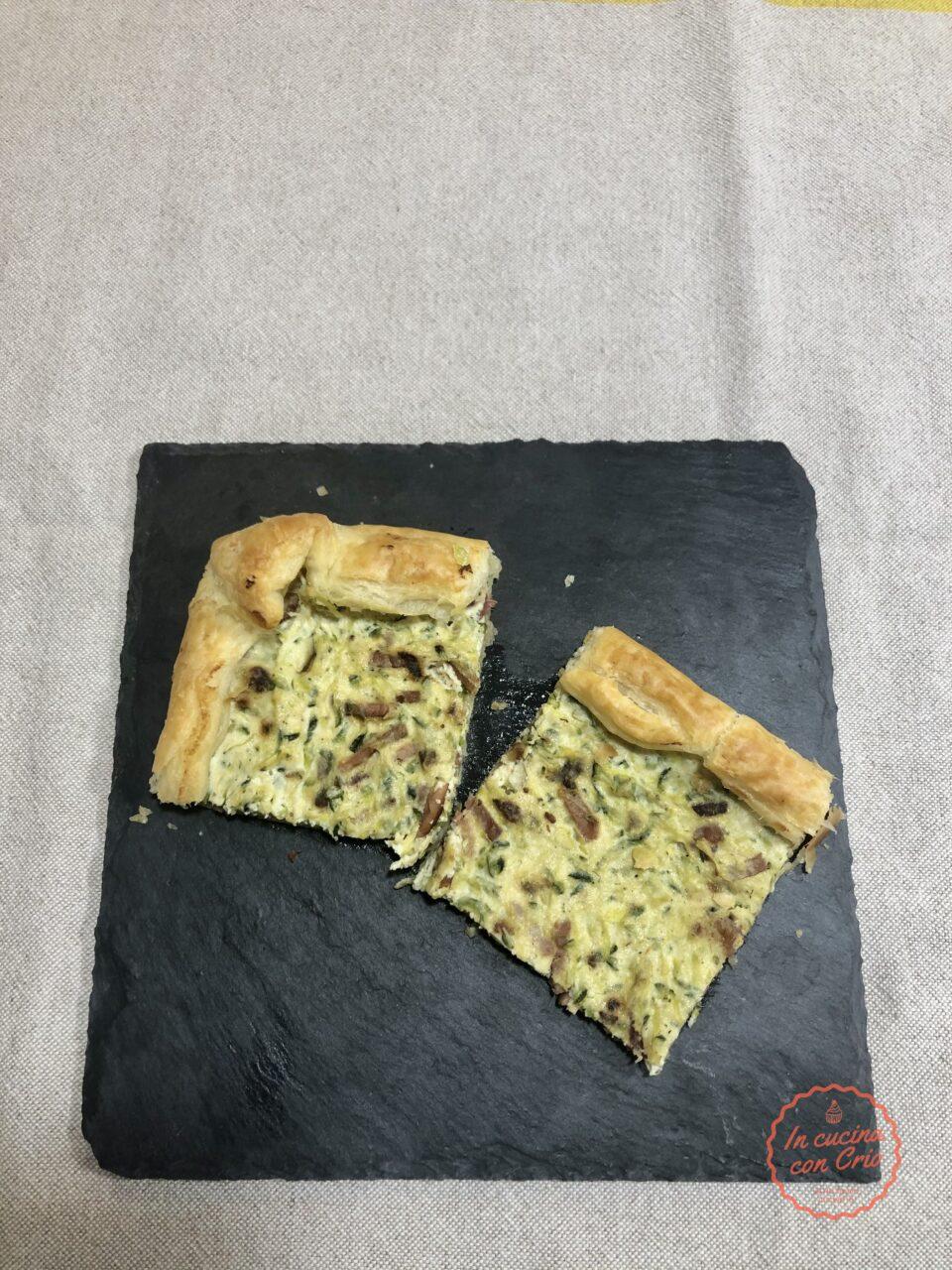 torta ricotta speck zucchine ricetta