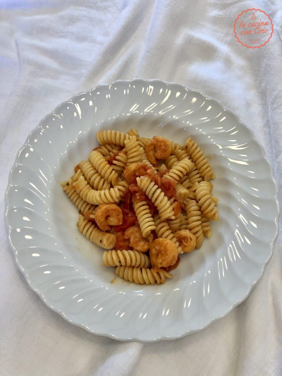 pasta mazzancolle pomodorini ricetta