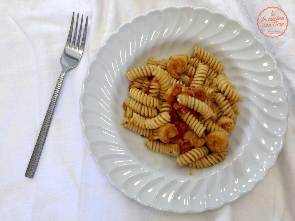 pasta veloce mazzancolle pomodorini ricetta