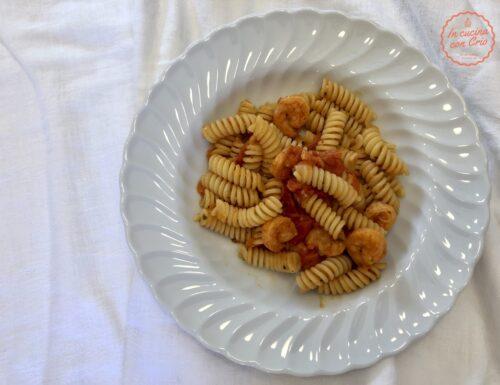 Pasta veloce mazzancolle e pomodorini