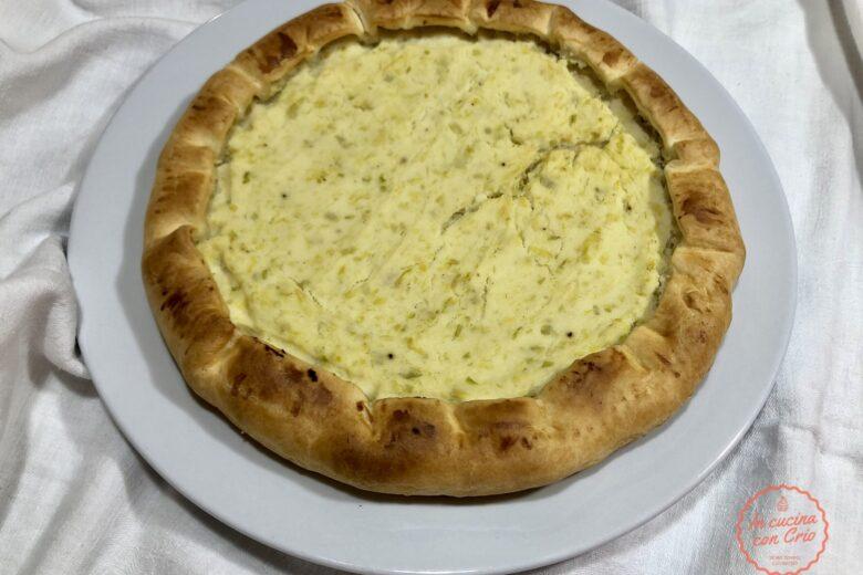 Torta salata ricotta patate e porri