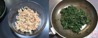 spinaci e salmone cotti