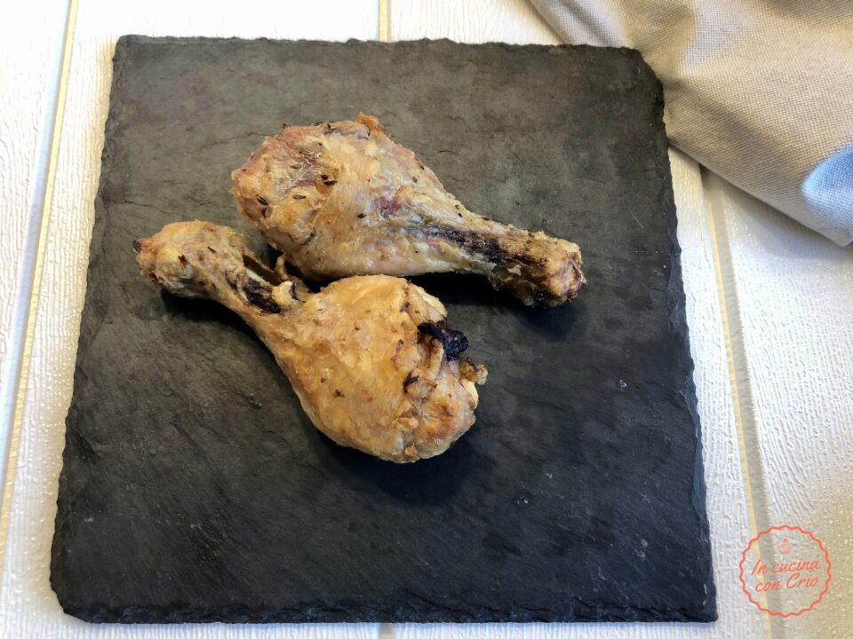 Cosce di pollo in friggitrice ad aria