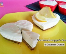 Dolci veloci: mini cheesecake con yogurt e limone