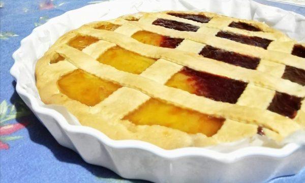 Crostata di marmellata con frolla allo yogurt