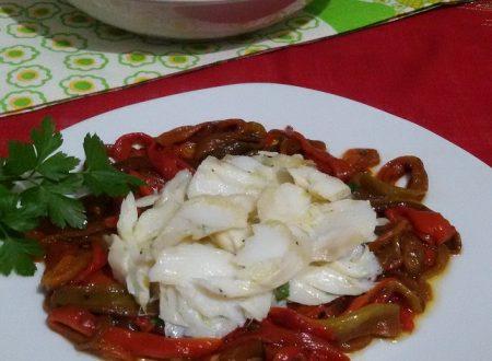 Baccalà arrosto con peperoni