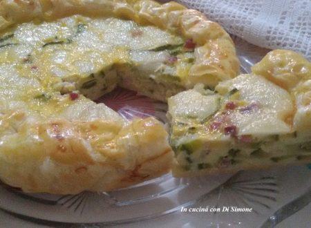 Torta brisé di zucchine e provola