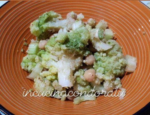 Insalata di broccolo romanesco e legumi