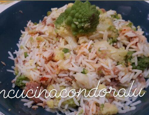 Riso basmati, broccolo romanesco e tonno