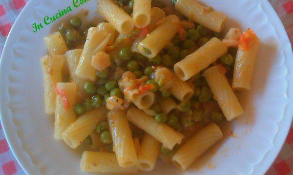 Maccheroni Con Piselli,Gamberetti E Pomodorini