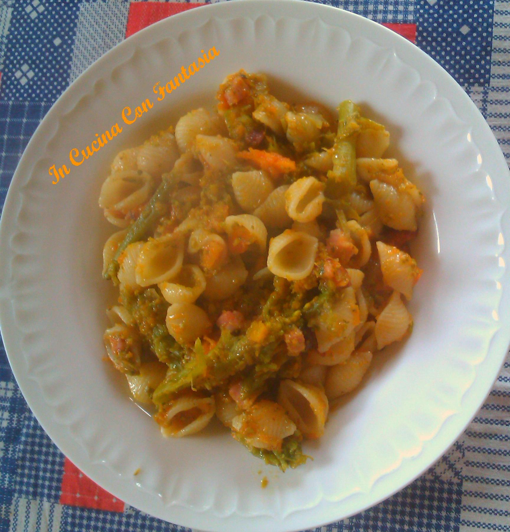 conchiglie,zucca e broccoli 1