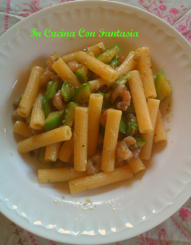 Sedanini Gamberetti e zucchine 1