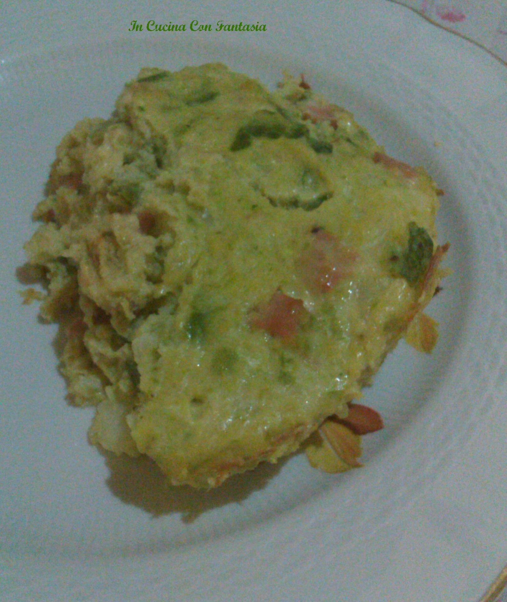 Sformato Di Patate,Zucchine E Mortadella 1