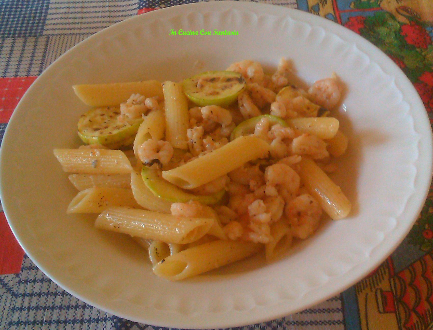 Pennette Con Zucchine Grigliate E Gamberetti11