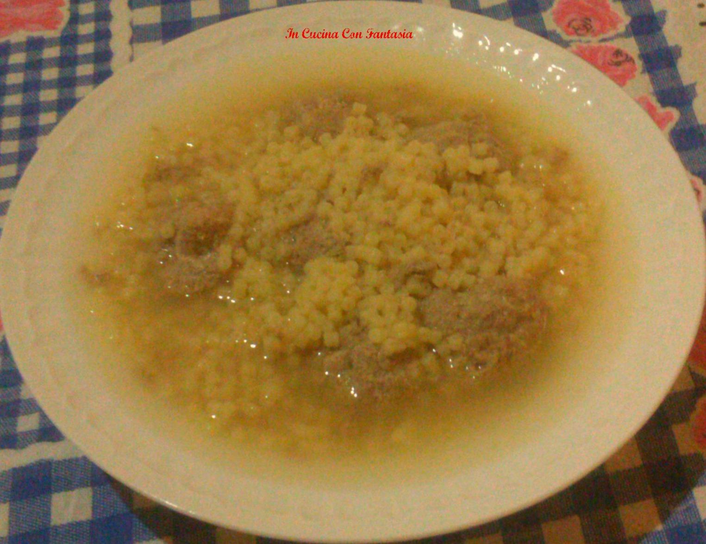 Pastina Con Polpettine In Brodo1