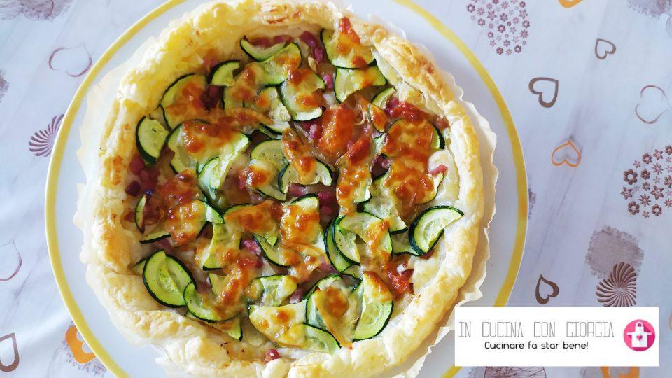Torta salata di zucchine e pancetta