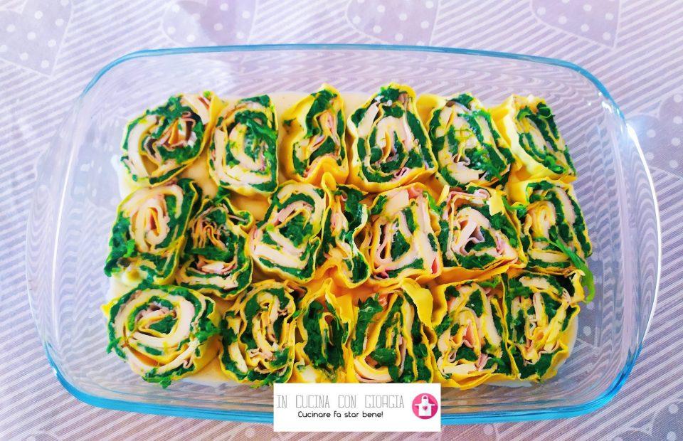 Nidi di rondine spinaci e prosciutto cotto