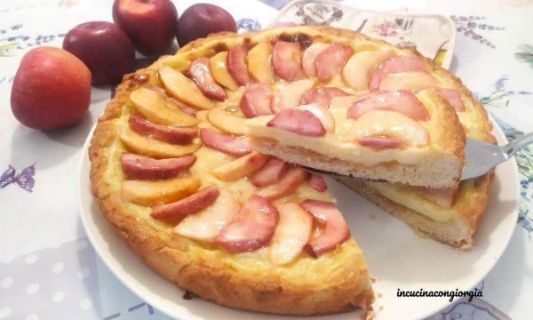 Crostata alle mele e crema pasticciera