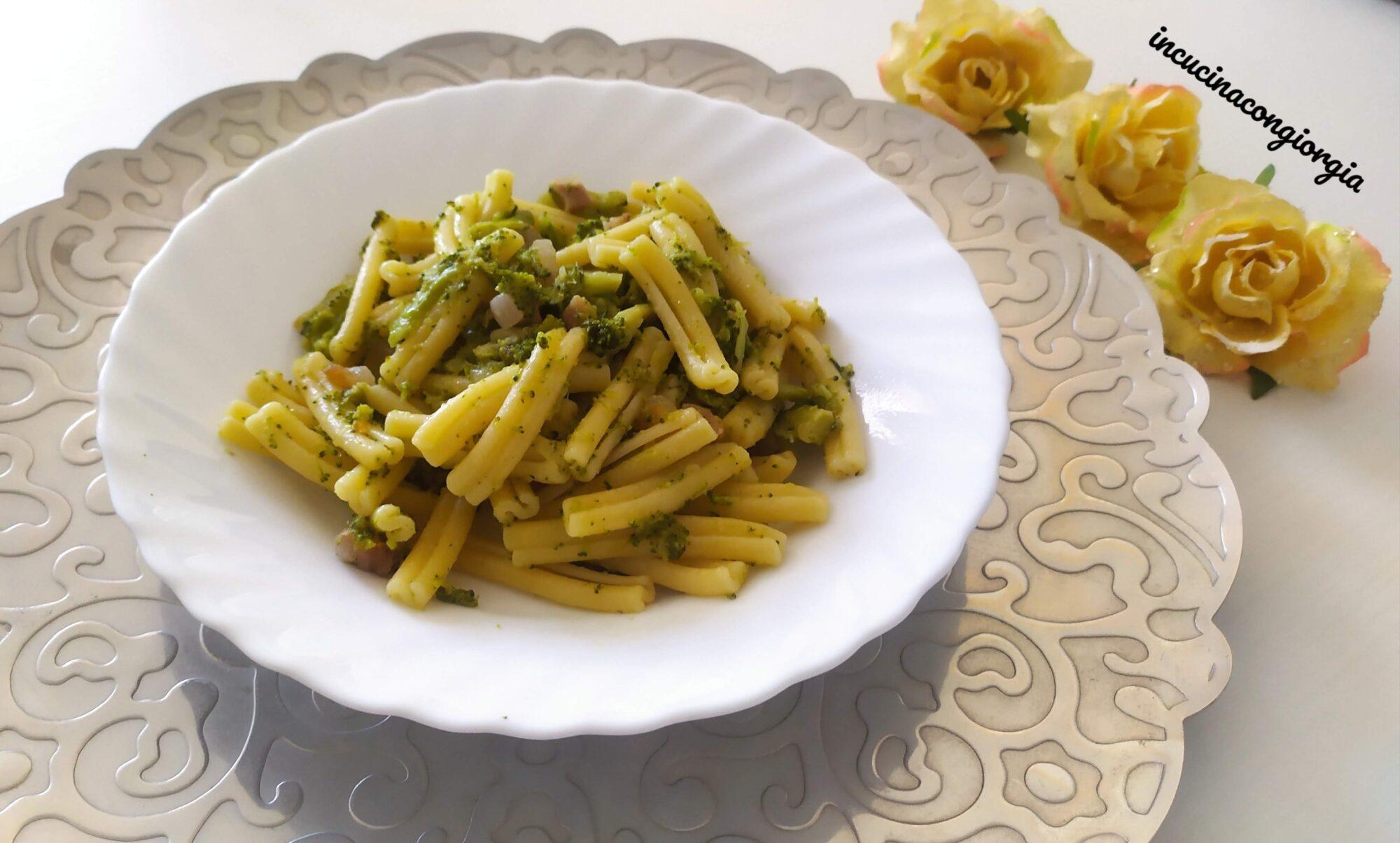 Pasta broccoli e guanciale