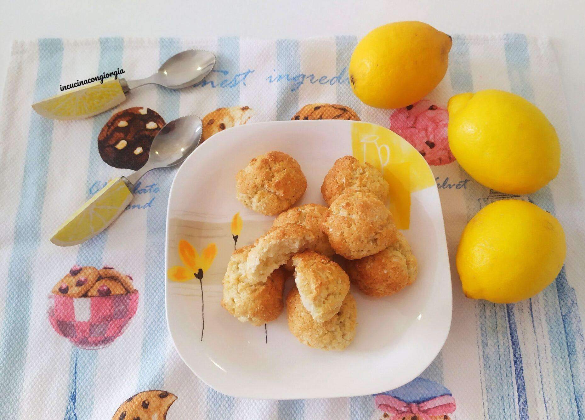 Biscottini cocco e limone