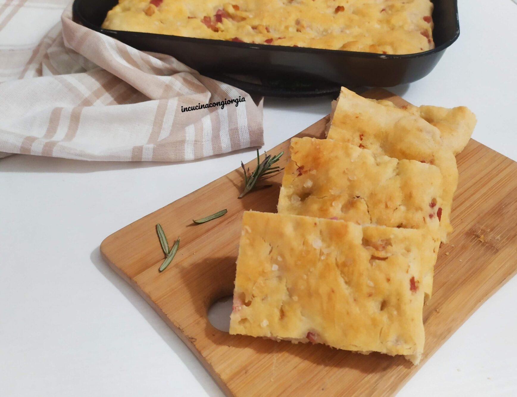 Focaccia con pancetta
