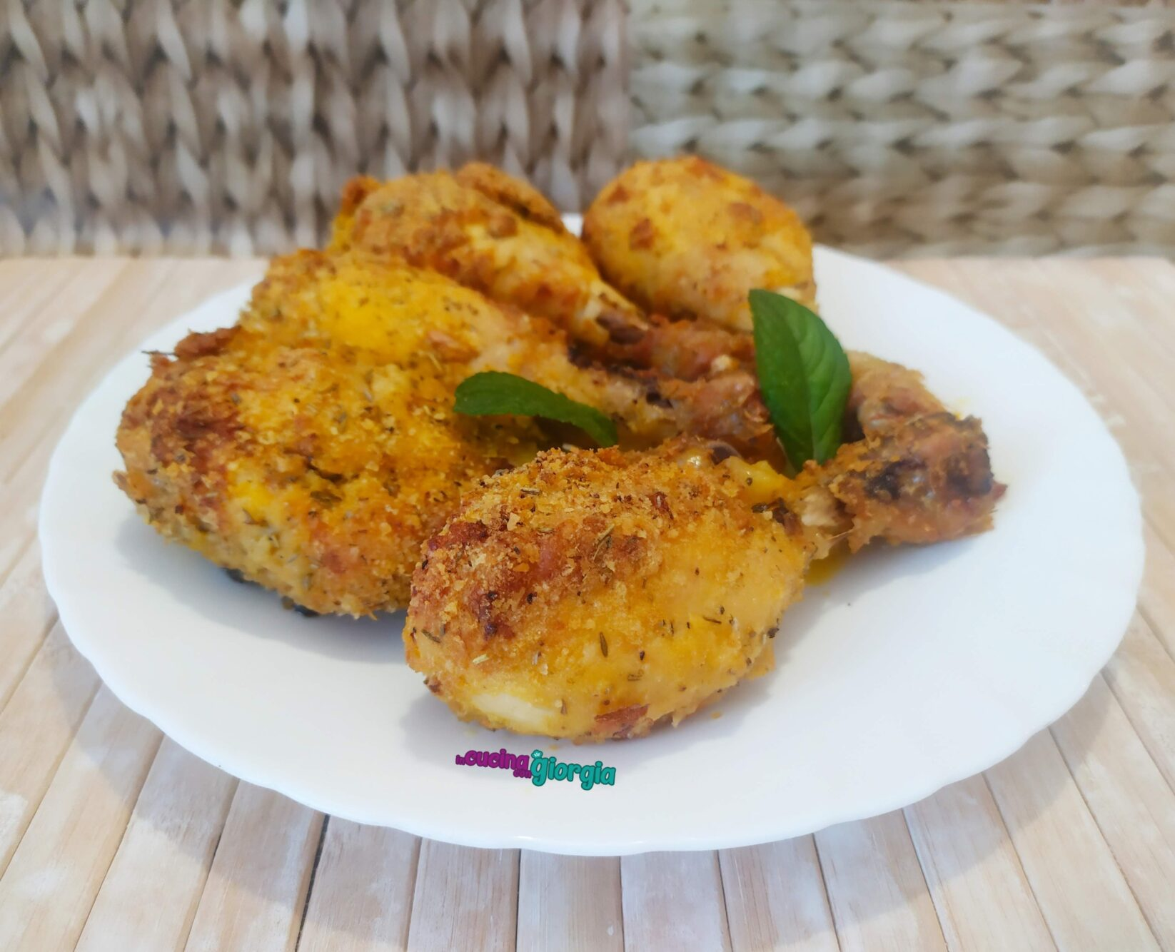 Cosce di pollo impanate al forno