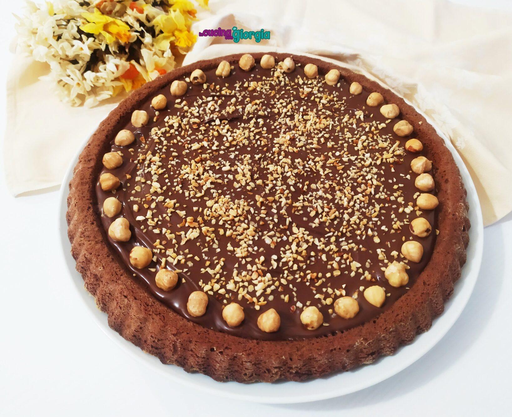 Crostata morbida al cacao e Nutella