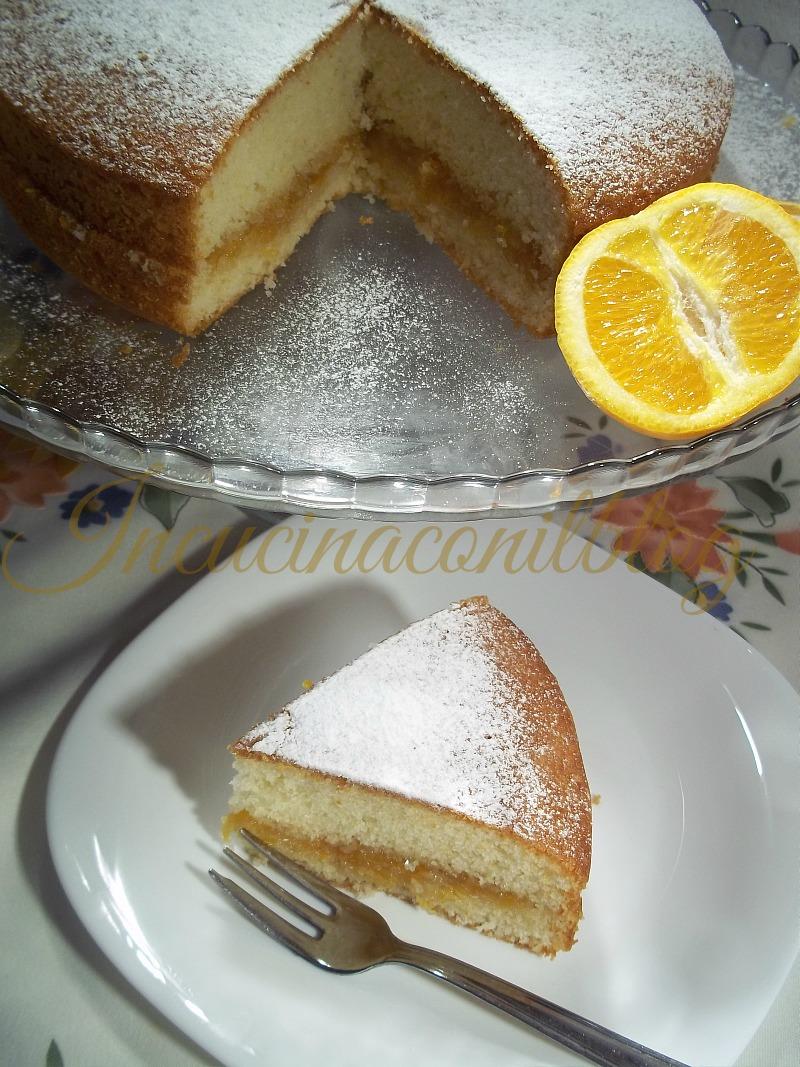 torta allo yogurt farcita con marmellata 2