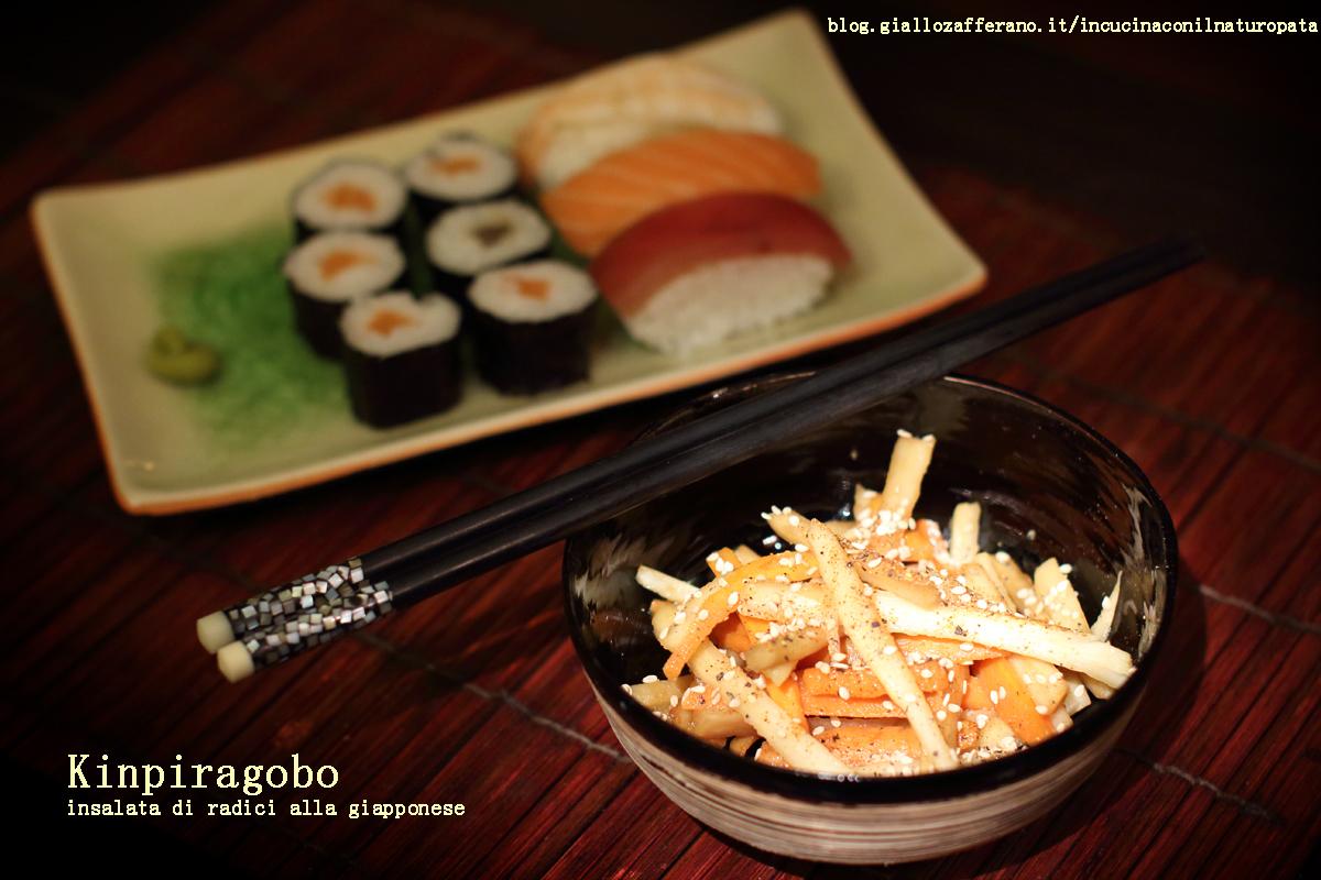 Kinpiragobo: insalata di radici alla giapponese
